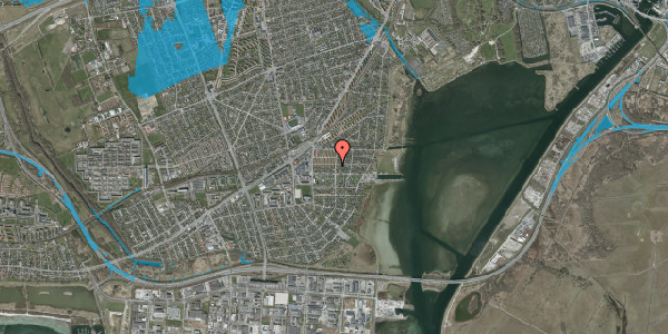 Oversvømmelsesrisiko fra vandløb på Bavnevej 20, 1. th, 2650 Hvidovre