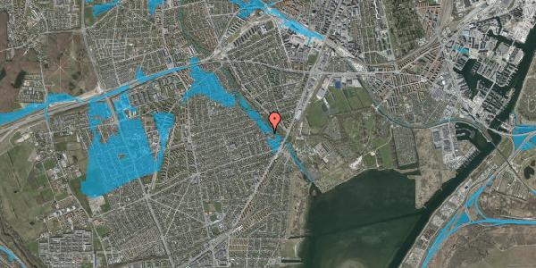 Oversvømmelsesrisiko fra vandløb på Bendstrupvej 4, 2650 Hvidovre