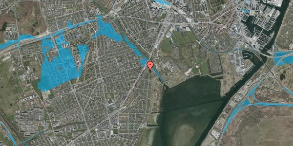 Oversvømmelsesrisiko fra vandløb på Beringgårdsvej 3, 2650 Hvidovre