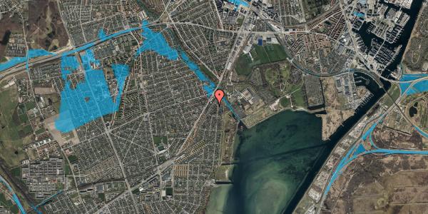 Oversvømmelsesrisiko fra vandløb på Beringgårdsvej 5, 2650 Hvidovre