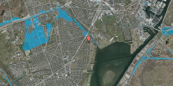 Oversvømmelsesrisiko fra vandløb på Beringgårdsvej 15B, 2650 Hvidovre