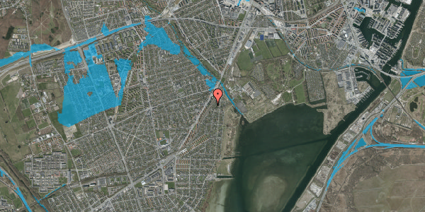 Oversvømmelsesrisiko fra vandløb på Beringgårdsvej 17, 2650 Hvidovre