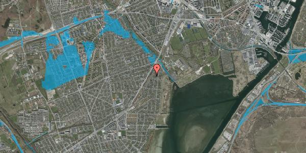 Oversvømmelsesrisiko fra vandløb på Beringgårdsvej 19, 2650 Hvidovre
