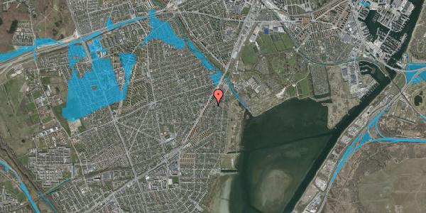 Oversvømmelsesrisiko fra vandløb på Beringgårdsvej 27, 2650 Hvidovre