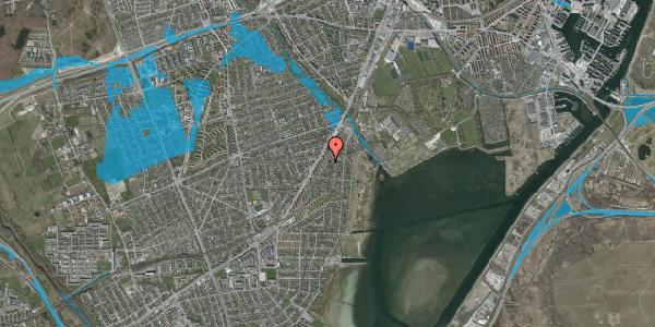 Oversvømmelsesrisiko fra vandløb på Beringgårdsvej 31, 2650 Hvidovre