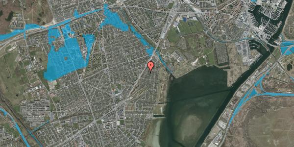 Oversvømmelsesrisiko fra vandløb på Beringgårdsvej 35, 2650 Hvidovre