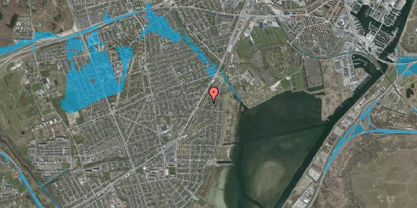 Oversvømmelsesrisiko fra vandløb på Beringgårdsvej 37A, 2650 Hvidovre