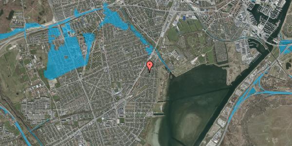 Oversvømmelsesrisiko fra vandløb på Beringgårdsvej 39, 2650 Hvidovre
