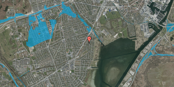 Oversvømmelsesrisiko fra vandløb på Beringgårdsvej 41, 2650 Hvidovre