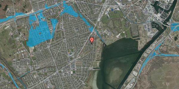Oversvømmelsesrisiko fra vandløb på Beringgårdsvej 43B, 2650 Hvidovre