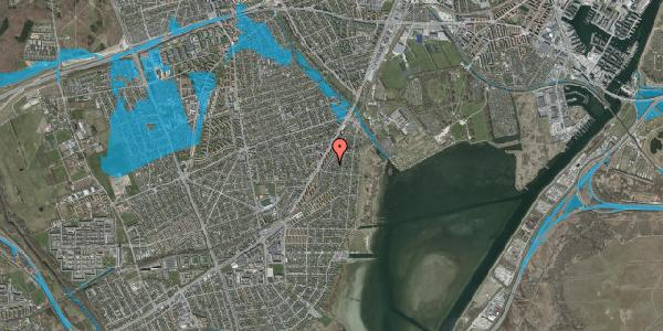 Oversvømmelsesrisiko fra vandløb på Beringgårdsvej 45, 2650 Hvidovre