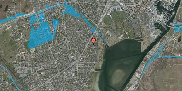 Oversvømmelsesrisiko fra vandløb på Beringgårdsvej 45A, 2650 Hvidovre