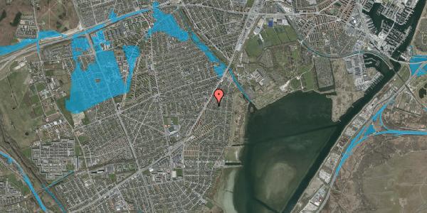 Oversvømmelsesrisiko fra vandløb på Beringgårdsvej 47, 2650 Hvidovre