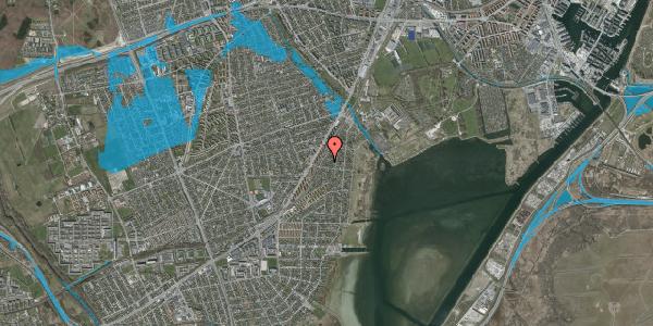 Oversvømmelsesrisiko fra vandløb på Beringgårdsvej 47A, 2650 Hvidovre