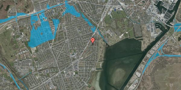 Oversvømmelsesrisiko fra vandløb på Beringgårdsvej 49, 2650 Hvidovre