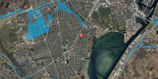 Oversvømmelsesrisiko fra vandløb på Beringgårdsvej 57, 2650 Hvidovre
