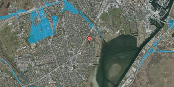 Oversvømmelsesrisiko fra vandløb på Beringgårdsvej 59, 2650 Hvidovre