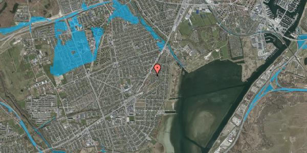 Oversvømmelsesrisiko fra vandløb på Beringgårdsvej 61, 2650 Hvidovre