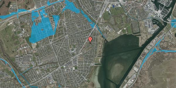 Oversvømmelsesrisiko fra vandløb på Beringgårdsvej 63, 2650 Hvidovre