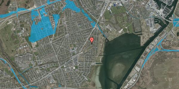 Oversvømmelsesrisiko fra vandløb på Beringgårdsvej 71, 2650 Hvidovre