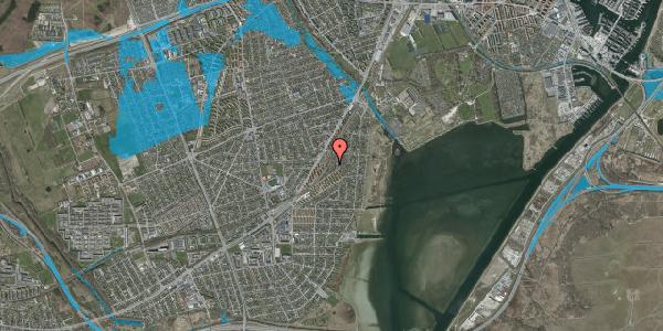 Oversvømmelsesrisiko fra vandløb på Beringgårdsvej 75, 2650 Hvidovre