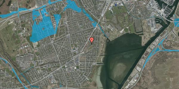 Oversvømmelsesrisiko fra vandløb på Beringgårdsvej 77, 2650 Hvidovre