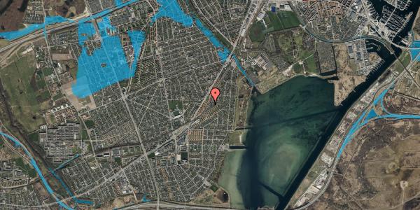 Oversvømmelsesrisiko fra vandløb på Beringgårdsvej 85, 2650 Hvidovre