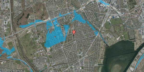 Oversvømmelsesrisiko fra vandløb på Berners Vænge 1, 2. th, 2650 Hvidovre