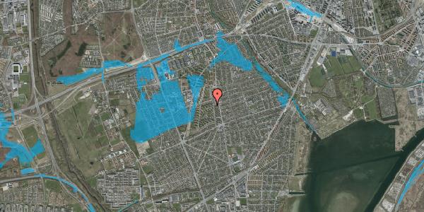 Oversvømmelsesrisiko fra vandløb på Berners Vænge 2, 2. tv, 2650 Hvidovre