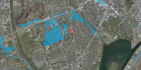 Oversvømmelsesrisiko fra vandløb på Berners Vænge 3, 2. th, 2650 Hvidovre