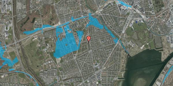 Oversvømmelsesrisiko fra vandløb på Berners Vænge 4, 2. tv, 2650 Hvidovre