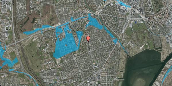 Oversvømmelsesrisiko fra vandløb på Berners Vænge 6, 1. tv, 2650 Hvidovre