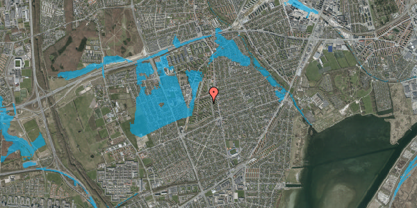 Oversvømmelsesrisiko fra vandløb på Berners Vænge 7, 2. th, 2650 Hvidovre