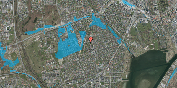 Oversvømmelsesrisiko fra vandløb på Berners Vænge 10, st. th, 2650 Hvidovre