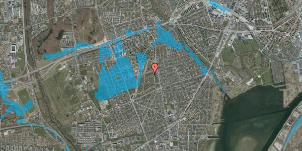Oversvømmelsesrisiko fra vandløb på Berners Vænge 10, 2. th, 2650 Hvidovre