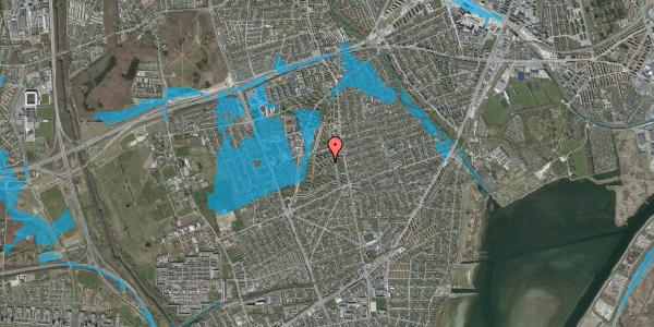 Oversvømmelsesrisiko fra vandløb på Berners Vænge 11, 1. tv, 2650 Hvidovre