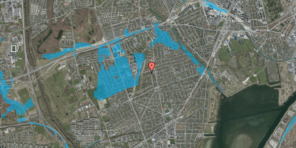 Oversvømmelsesrisiko fra vandløb på Berners Vænge 14, 1. th, 2650 Hvidovre