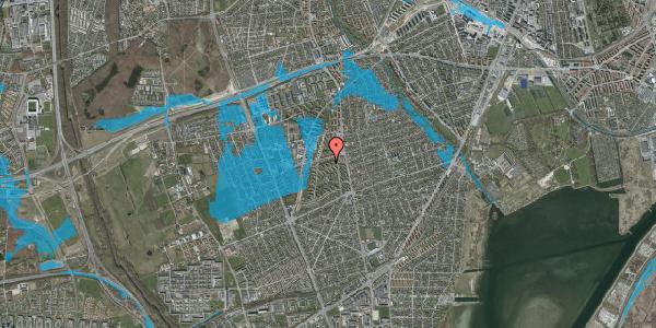 Oversvømmelsesrisiko fra vandløb på Berners Vænge 16, 2. th, 2650 Hvidovre