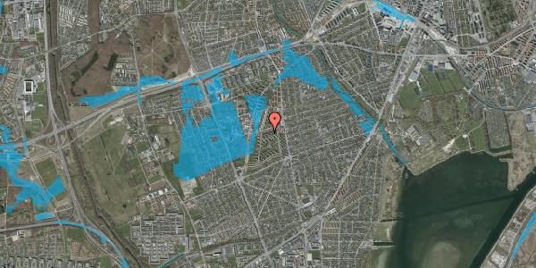 Oversvømmelsesrisiko fra vandløb på Berners Vænge 22, 2. th, 2650 Hvidovre