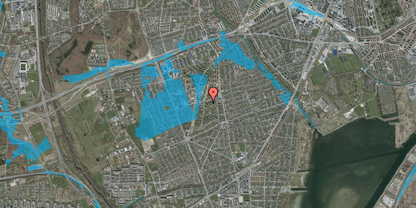 Oversvømmelsesrisiko fra vandløb på Berners Vænge 24, st. tv, 2650 Hvidovre