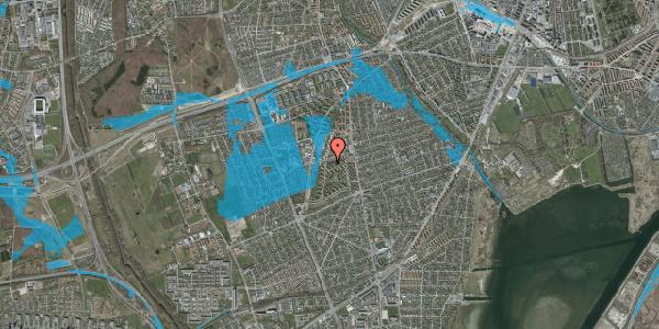 Oversvømmelsesrisiko fra vandløb på Berners Vænge 32, 2. tv, 2650 Hvidovre