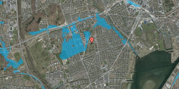Oversvømmelsesrisiko fra vandløb på Berners Vænge 34, 1. th, 2650 Hvidovre