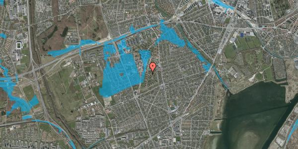 Oversvømmelsesrisiko fra vandløb på Berners Vænge 36, st. tv, 2650 Hvidovre