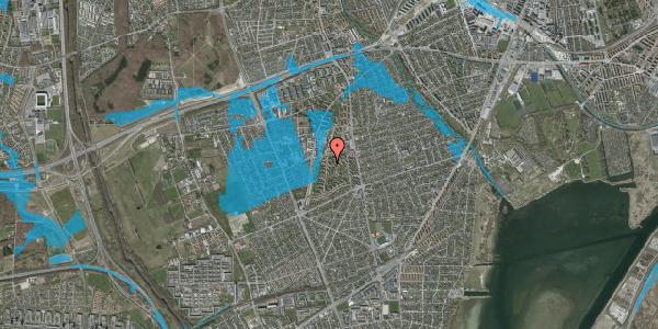 Oversvømmelsesrisiko fra vandløb på Berners Vænge 36, 2. tv, 2650 Hvidovre