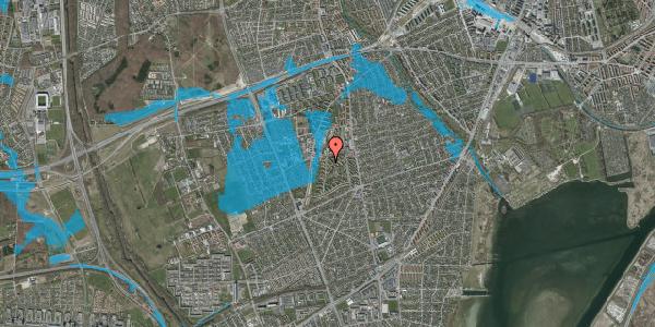 Oversvømmelsesrisiko fra vandløb på Berners Vænge 38, 2. th, 2650 Hvidovre