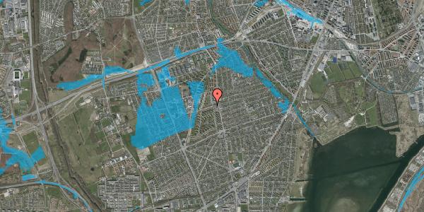 Oversvømmelsesrisiko fra vandløb på Bibliotekvej 4, 2650 Hvidovre