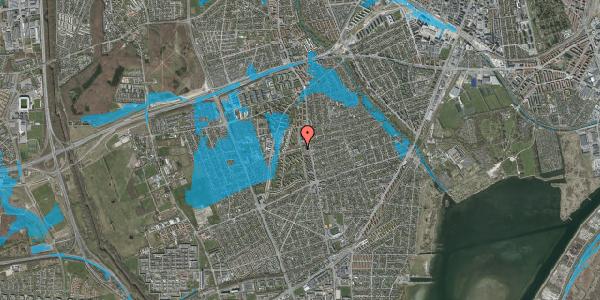 Oversvømmelsesrisiko fra vandløb på Bibliotekvej 5, 2650 Hvidovre