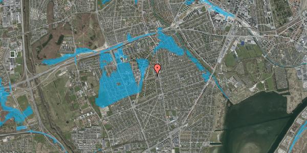 Oversvømmelsesrisiko fra vandløb på Bibliotekvej 6, 2650 Hvidovre