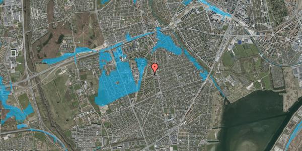 Oversvømmelsesrisiko fra vandløb på Bibliotekvej 12, 2650 Hvidovre
