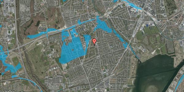 Oversvømmelsesrisiko fra vandløb på Bibliotekvej 24, 2650 Hvidovre